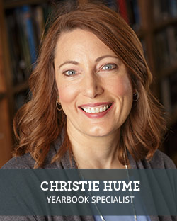 Head shot of School Annual Yearbook Representative Christie Hume
