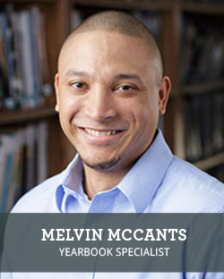 Head shot of School Annual Yearbook Representative Melvin McCants