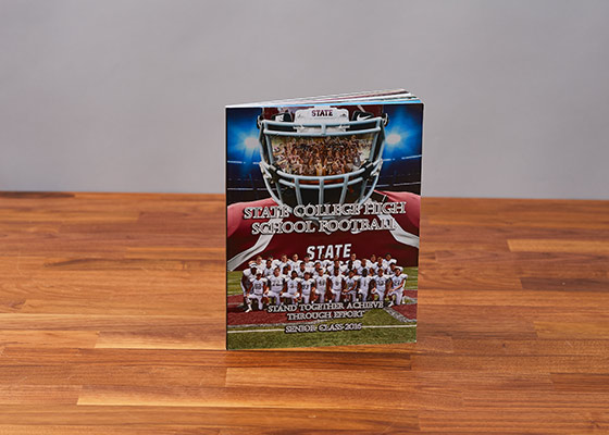 Football state championship memory book standing up