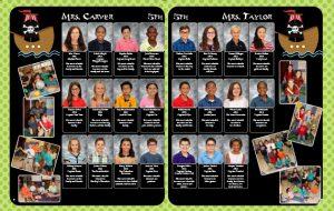 yearbook spread, yearbook 5th grade, graduation class yearbook