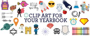 yearbook clip art, yearbook backgrounds, yearbook design, elementary school yearbooks, middle school yearbooks, yearbook spread ideas