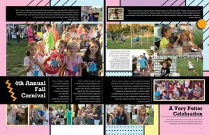 yearbook spread, geo yearbook, elementary school yearbook, yearbook spread idea