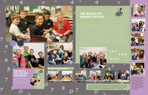 yearbook spread, yearbook spread idea, yearbook play theme
