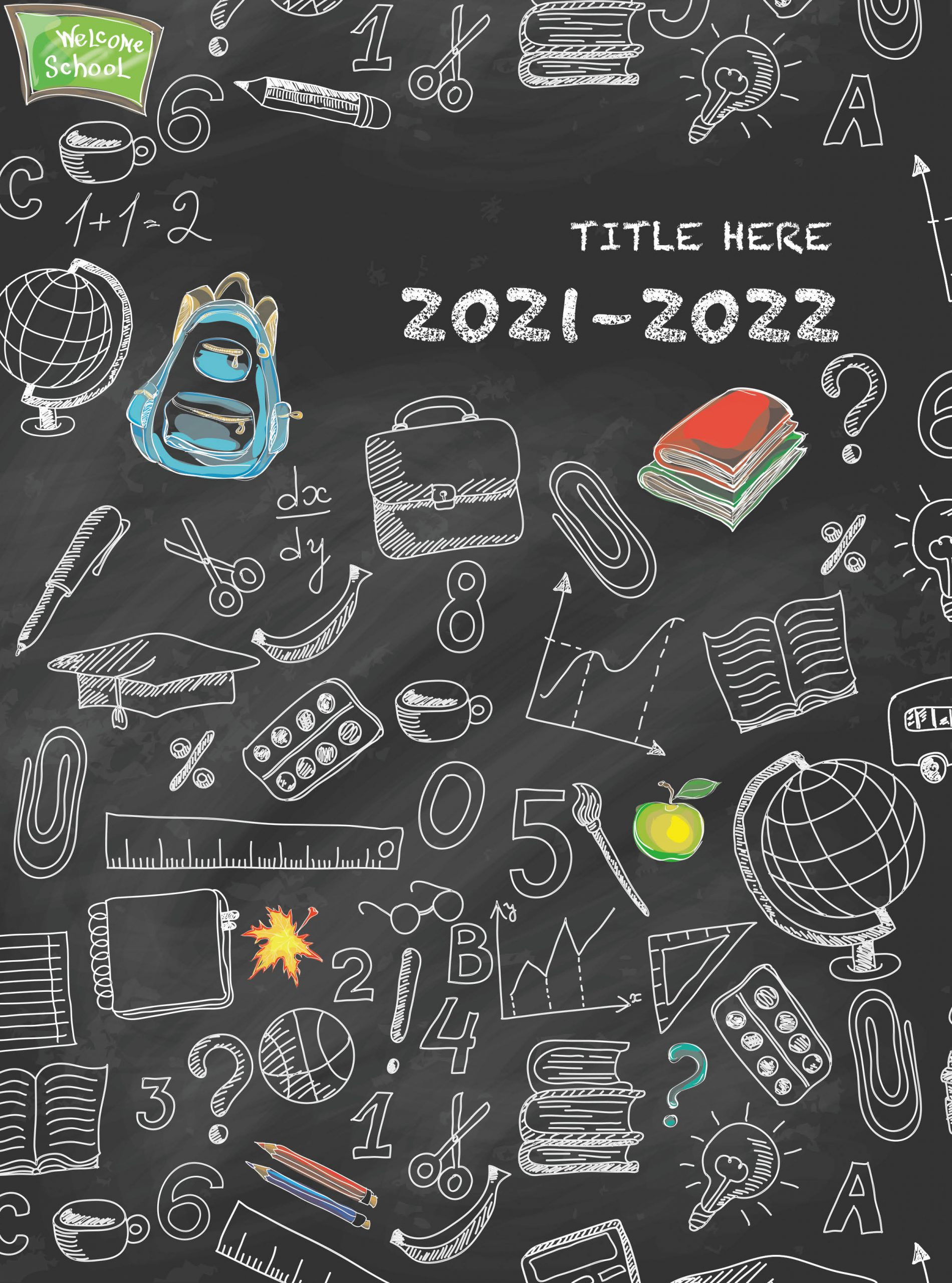 Yellow and Dark Teal Background With Design Letters, Yearbook Cover 2008