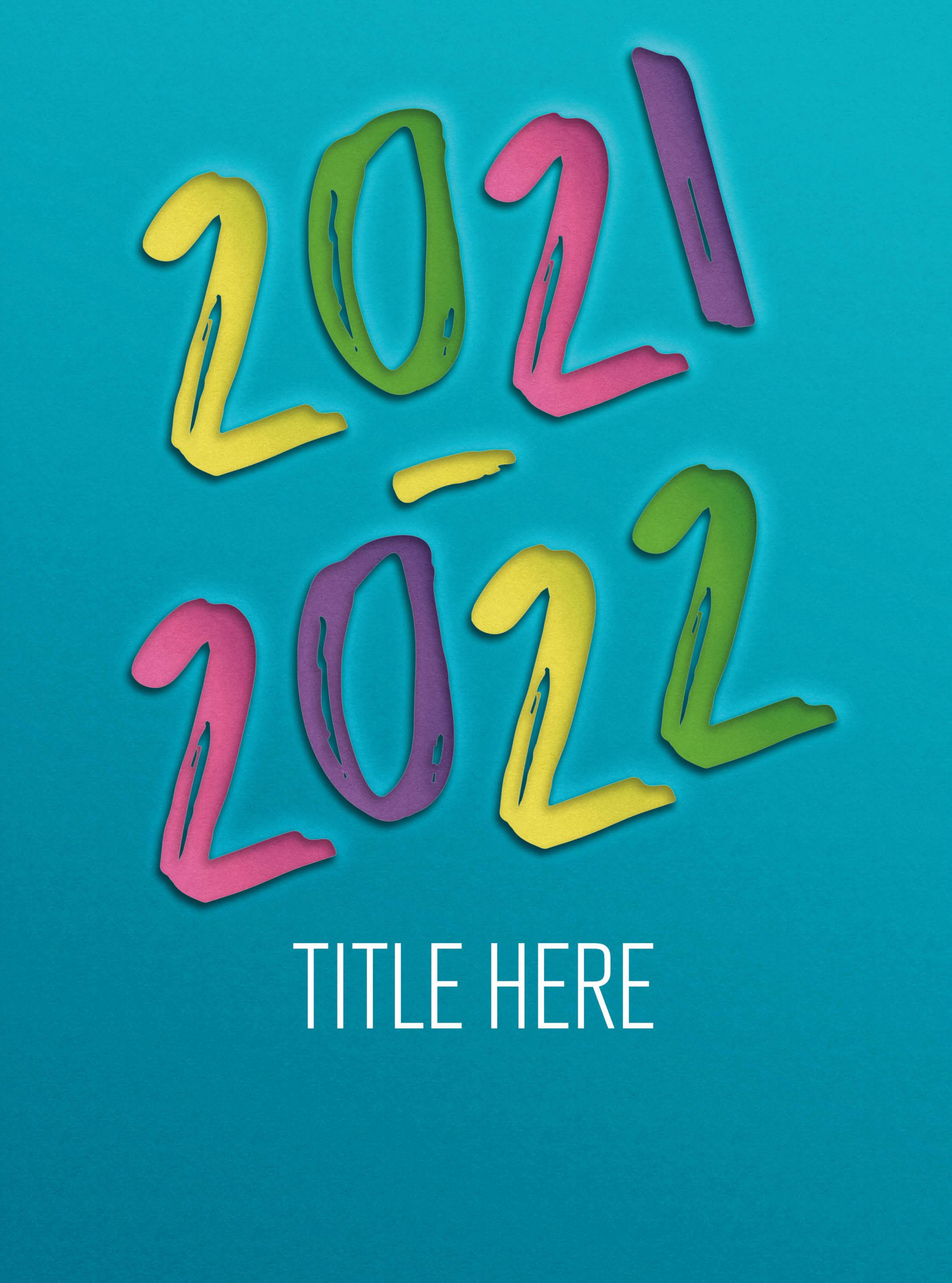 Colorful Waves With Teal Writing, Yearbook Cover 2006